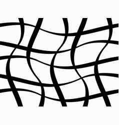 abstract geometric pattern with figures of wavy li vector image