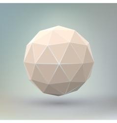 Abstract geometric spherical shape vector