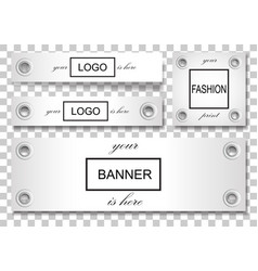 banner set with eyelets vector image