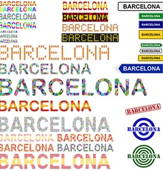 Barcelona text design set - Spanish version vector