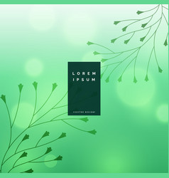 Beautiful bokeh background with floral leaves vector