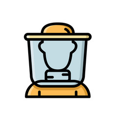 beekeeper apiculturist bee honey farmer icon vector image