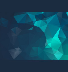 blue dark geometric rumpled triangular low poly vector image