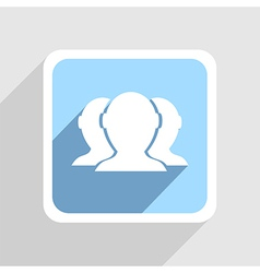blue icon on gray background Eps10 vector image
