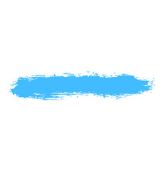 Blue paint brush stroke vector