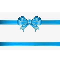 Blue ribbon and bow vector