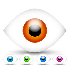 bright modern eyes in 5 vivid colors vector image