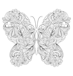 Butterfly on white background vector