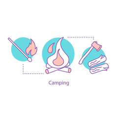 camping concept icon vector image