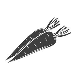 Carrot glyph icon vector