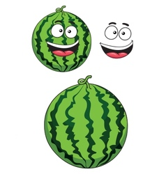 Cartoon ripe watermelon fruit vector