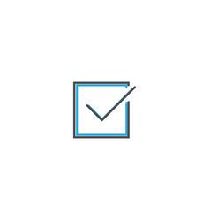checked icon design essential icon vector image