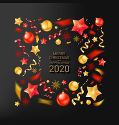 christmas background with beautiful border vector image
