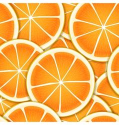 Citrus segments seamless background vector image