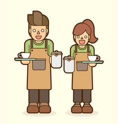 coffee serve barista graphic vector image