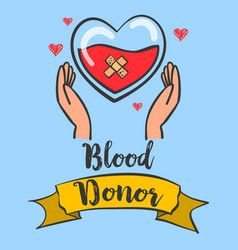 Collection stock blood donor day theme design vector