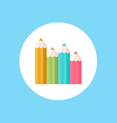 colored pencils icon sign symbol vector image