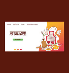 cooking website template vector image