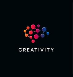 Creative brain logo creativity and vector