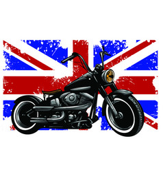 Custom motorbike with great britain flag in vector