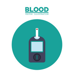 Diabetes blood test image vector