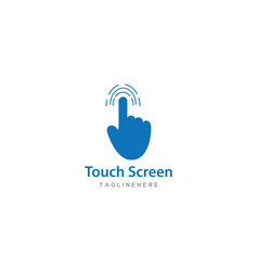 digital touch technology logo vector image