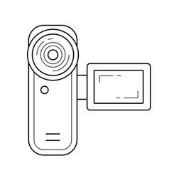 Digital videocamera line icon vector