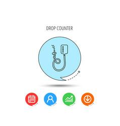 Drop counter icon medical procedure sign vector