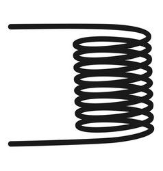 Electric spiral icon simple style vector