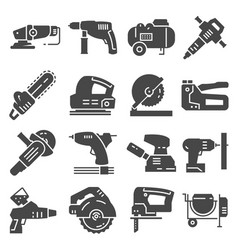 electrical work tools icons set vector image