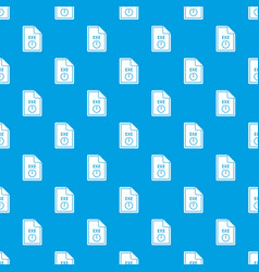 file exe pattern seamless blue vector image vector image