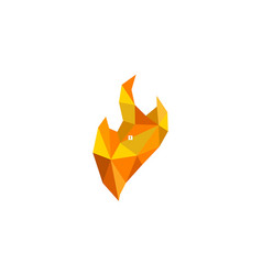fire diamond logo design template vector image