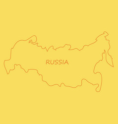 Flag map of russia vector