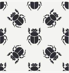 flat line seamless pattern wildlife fauna vector image