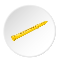 Flute icon cartoon style vector image