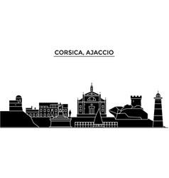 France corsica ajaccio architecture city vector