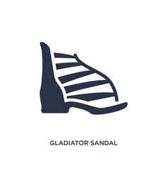 Gladiator sandal icon on white background simple vector