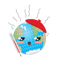 Global warming concept vector