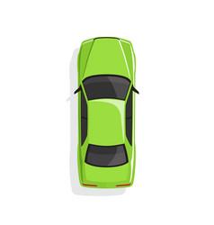 green cartoon car vector image