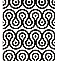 Grotesque waves seamless pattern black and white vector