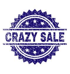 Grunge textured crazy sale stamp seal vector