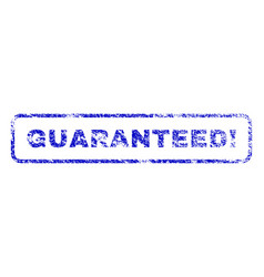 Guaranteed exclamation rubber stamp vector