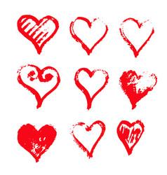 hand drawn heart icon design vector image