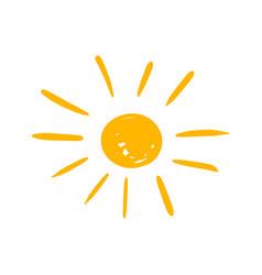 Hand drawn sun icon sun sketch doodle handdrawn vector