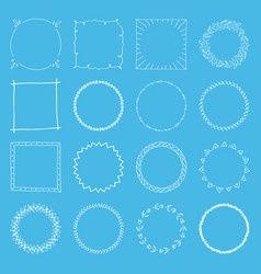 Handdrawn frame collection vector