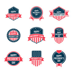 happy presidents day logo vector image