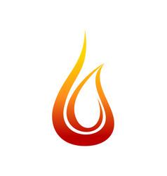 Heat flame fire swoosh brush symbol design vector