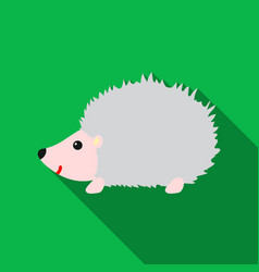 hedgehog icon flat singe animal icon from the big vector image
