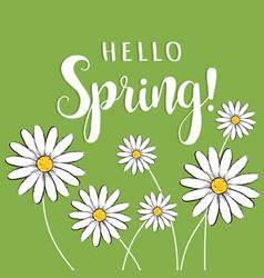 Hello spring hello spring floral vector
