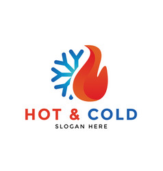 Hot and cold logo icon design template vector